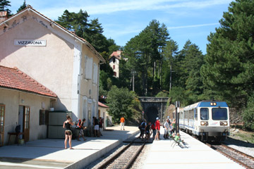 Taking the train across Corsica, from Ajaccio to Bastia