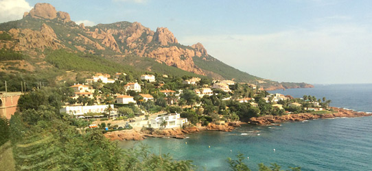 View from the train to Nice