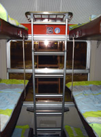 French 2nd class 6-bunk couchette