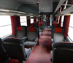 2nd class seats on an Intercité train