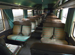 2nd class seats on an Intercit� train