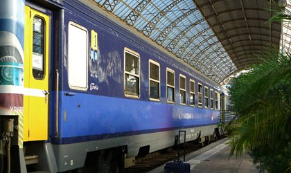 The overnight train from Paris to Nice, arrived at Nice