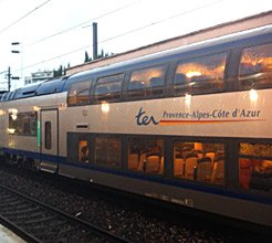 TER regional train Nice to Ventimiglia