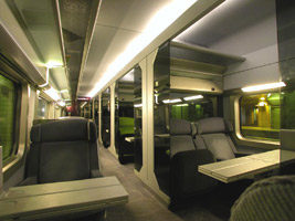 First class car on TGV-Atlantique