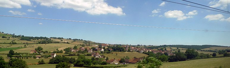Scenery from the train between Paris & Lyon