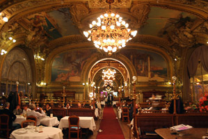 Inside the Train Bleu restaurant, Paris Gare de Lyon