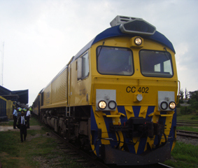 The Ntsa Express train at Owendo