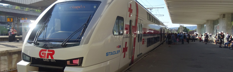 Stadler Kiss electric train from Tbilisi to Batumi