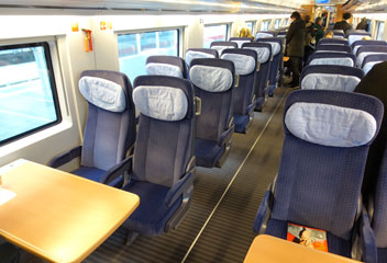 2nd class seats on a class 407 ICE3