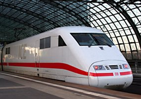 High-speed ICE train from Cologne to Berlin