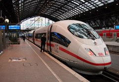 High-speed ICE3 train at Cologne