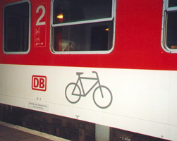 Bike compartment on Paris to Berlin City Night Line sleeper train
