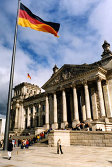 The beautifully-restored Reichstag in Berlin.  It's easy to reach Berlin by train..!