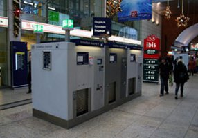 Cologne's left luggage machines