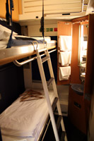 Sleeping-car compartment on the Paris to Berlin night train