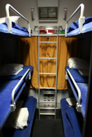 6-berth couchette compartment on Paris-Munich overnight train