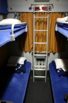 4-berth couchettes on the sleeper train to Prague