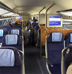Double-deck German InterCity train 2nd class
