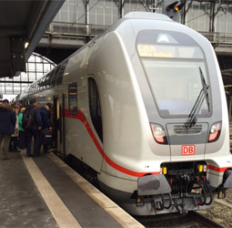 Double-deck German InterCity train