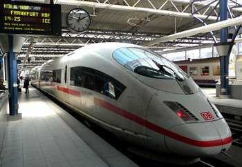 ICE train to Germany