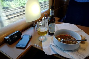 Lunch on the ICE train to Cologne