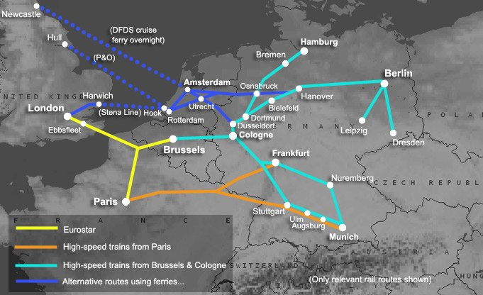 How to travel by train from London to Germany – Train Travel In France Map