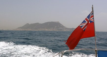 Rock of Gibraltar from the sea