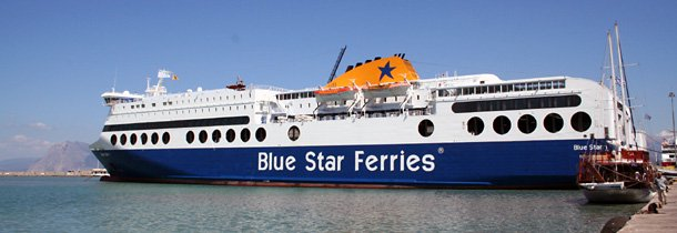 Blue Star Ferries from Bari to Patras in Greece
