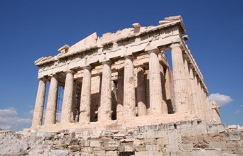 The Parthenon, Athens.  It's easy to get to Greece by train!