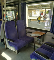 Seat on Thessaloniki-Athens intercity train