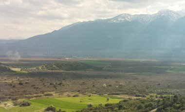 More scenery on the train to Athens