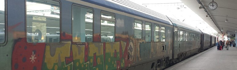 Greek InterCity train from Thessaloniki to Athens