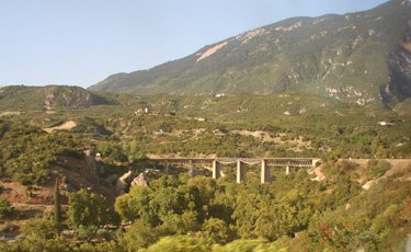 More mountain scenery, and the Gorgopotamos Viaduct...