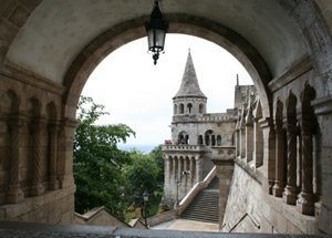 Fisherman's Bastion, Budapest.  It's easy to reach Budapest by train..!