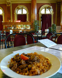 Hungarian food at the Baross restaurant, Budapest keleti