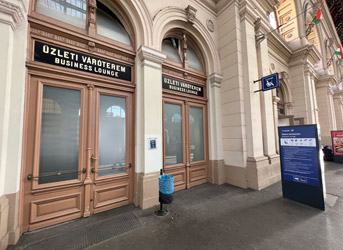 Location of first class lounge at Budapest Keleti railway station