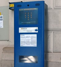 Hungarian Railways e-ticket collection point