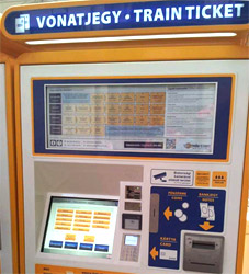 MAV-start ticket collection - touch screen
