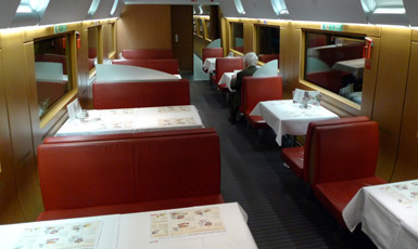 ICE2 restaurant car