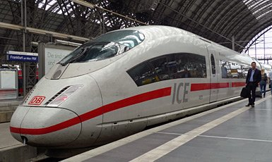 High-speed ICE3 train at Frankfurt