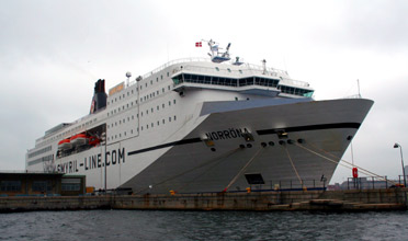 The Smyril Line cruise ferry 'Norrona' to Iceland.