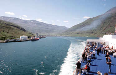 Leaving Iceland on the Smyri Line ferry 'Norrona'.