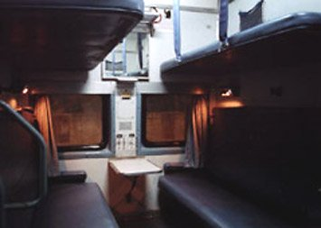 AC2 sleeper on an Indian train