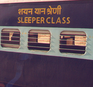 Indian trains:  Sleeper class car