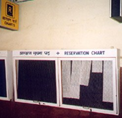 Train reservation lists are posted on platform noticeboards about 2 hours before departure...