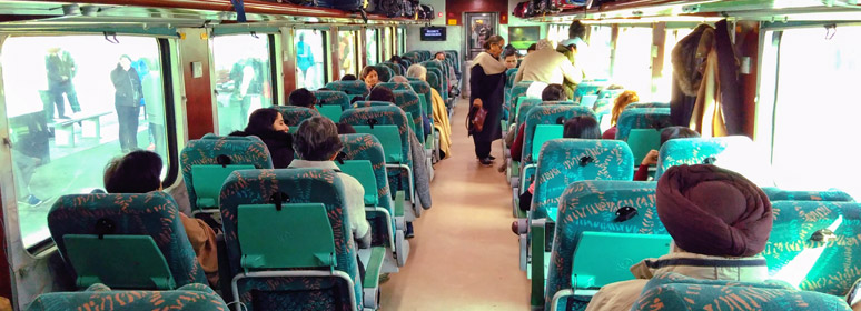 AC Executive Chair class on a Shatabdi Express