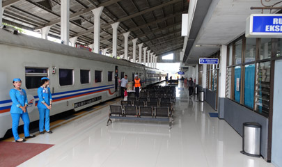 Train arrived at Banyuwangi station