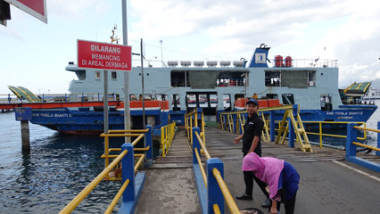 Ferry to Bali boarding at Ketapang