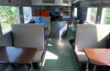 Catering car on the Argo Bromo Anggrek