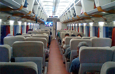 Eksekutif seats on an 'Argo' train